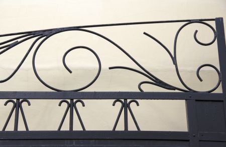 Wrought iron gates. Fragment of an old gate. Stock Photo - 17920451