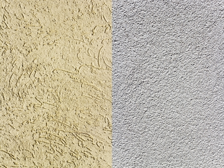 Two plaster on the wall  Samples of texture and background  Stock Photo - 21819127