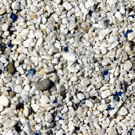 Decorative blue and white gravel and stone in different colors  photo