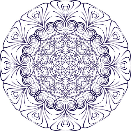 white plate: Vector illustration of a white plate with blue pattern