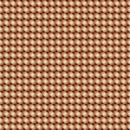 basket weaving: Seamless texture of basket weaving brown color. Vector pattern. Illustration
