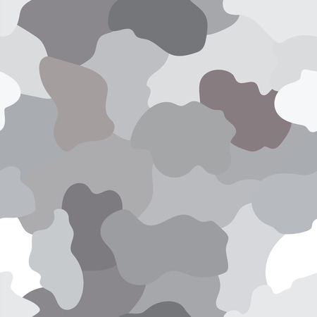 Illustrated grey and beige camouflage background with a seamless design Illustration