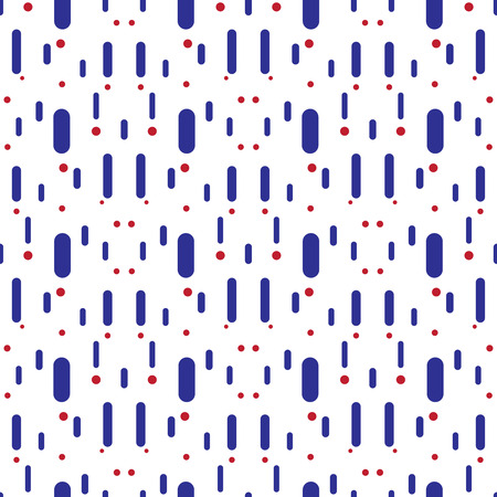 lineas verticales: Vector color vertical lines and circles. Seamless pattern. Vectores