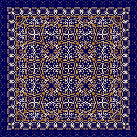 blue carpet: Dark blue carpet with gold pattern. Stylish design.
