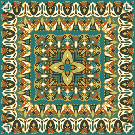 silk scarf: Colored handkerchief with abstract pattern silk scarf or shawl.