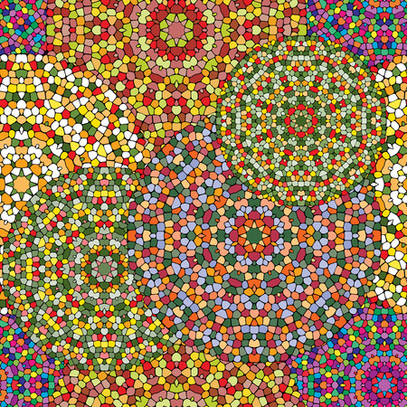 Mosaic seamless pattern. Colorful texture of ceramic tile.