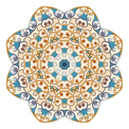 talisman: Modelo redondo ornamental para la terapia anti-estrés. La inusual forma de la flor. copo de este. Puede ser utilizado para el tatuaje o impresión en camisetas, el diseño y las tarjetas de boda.