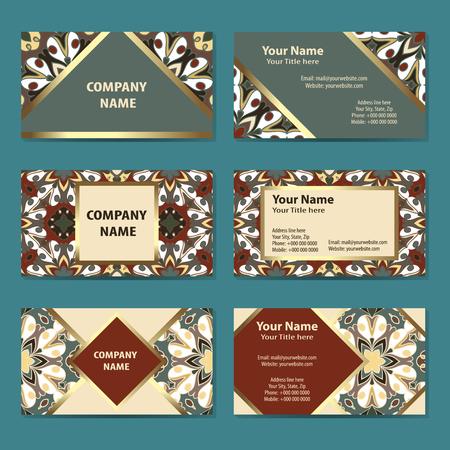 business cards: Set of business cards Illustration