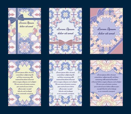 wedding reception decoration: Set of invitation cards