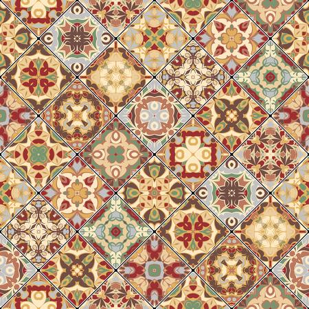 scraps: Square scraps in oriental style. Illustration
