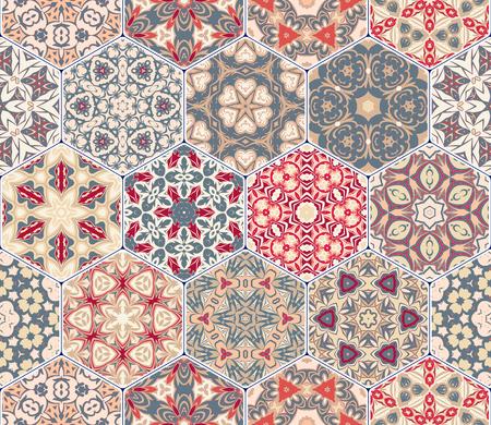 flooring: Set of hexagonal patterns.
