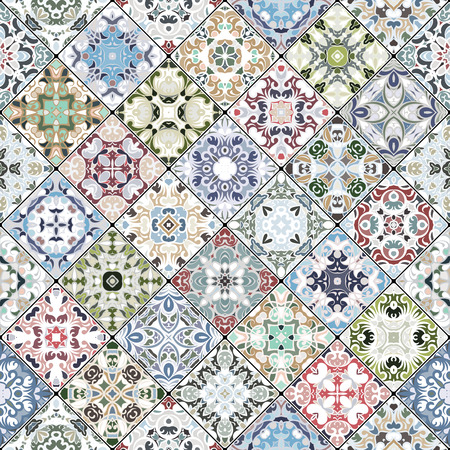 flooring: Decorative background in ethnic style. The rich decoration of abstract patterns for construction of fabric or paper.