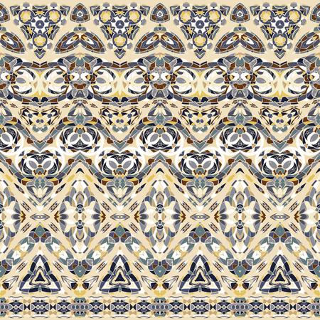 Ethnic patterns for border design. Illustration