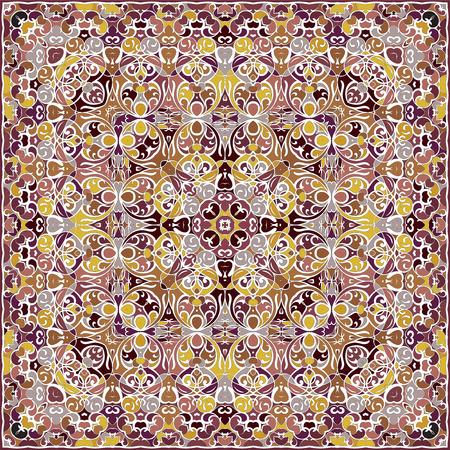 Bright colored handkerchief. Illusztráció