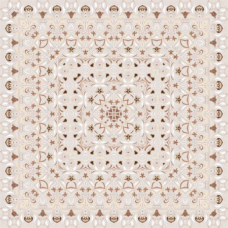Vintage Arabic pattern. Persian colored carpet. Rich ornament for fabric design, handmade, interior decoration, textiles. Light background. Vektoros illusztráció