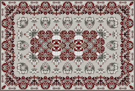 Motif arabe vintage. Tapis de couleur persane. Riche ornement pour la conception de tissus, fait main, décoration d'intérieur, textiles.