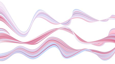 Colorful abstract shapes. Bright background of twisted lines. Liquid multi-colored waves for design of posters, cards, banners.