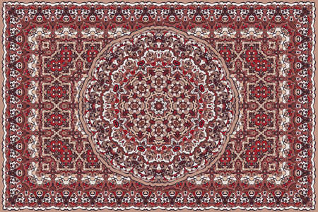 Rich persian colored carpet ethnic pattern.