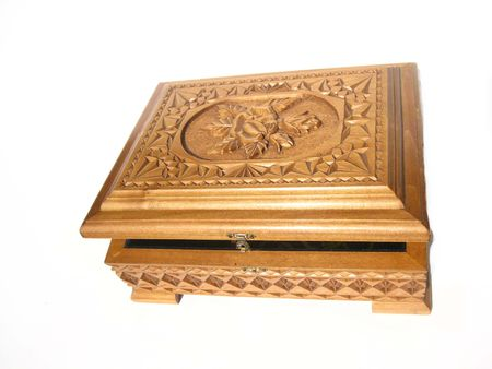 casket: wooden casket