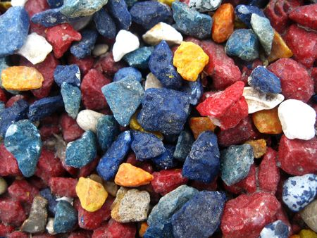 Stones of different colours Stock Photo