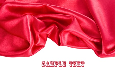 Smooth elegant red silk can use as background Stock Photo
