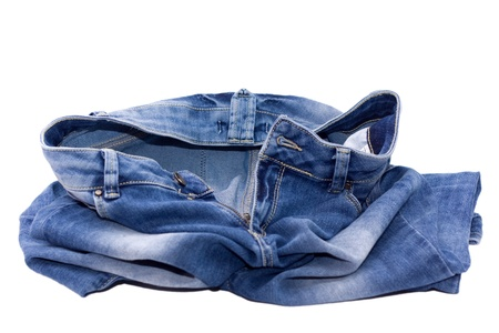 Remove your jeans - blue jeans in a heap on the floor.