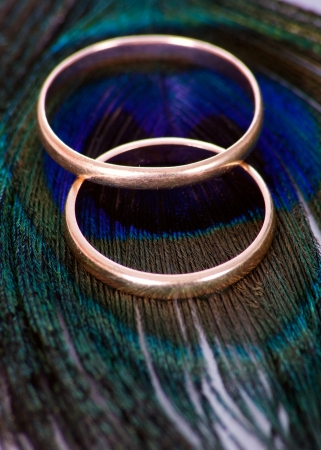 Wedding rings on the peacock transition