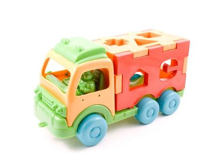 Worn toy isolated on white background