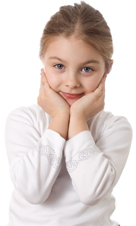 Portrait of a little girl isolated Stock Photo - 17275949