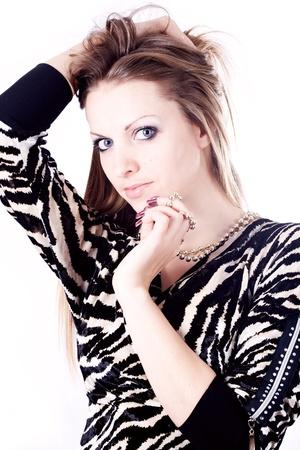 Beautiful girl isolated on white background Stock Photo - 17414881