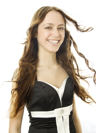 Fashion photo of beautiful woman with magnificent long blond hair Stock Photo - 17414910