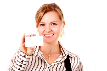 Close-up of professionals white business card Stock Photo - 17418855