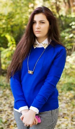 Girl with sad eyes, sad photo