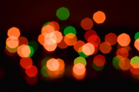 Colorful christmas lights out of focus, may be used as background Stock Photo - 20437192