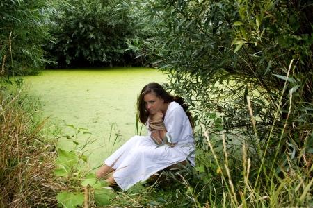 associated: Beautiful woman associated with wetlands