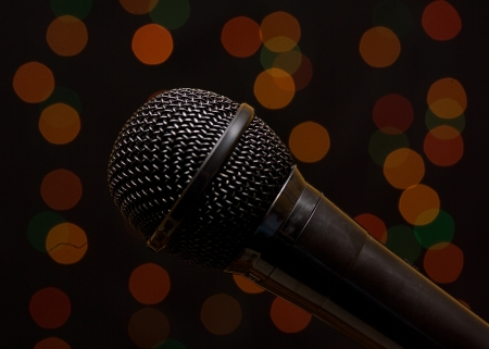 shure: studio microphone at a concert venue