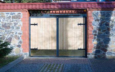 Modern house wooden gate