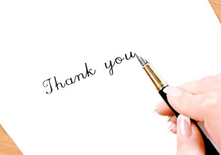 Fountain pen writing thank you!