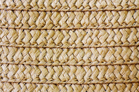Wicker straw texture close up. photo