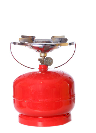 primus: Portable gas cylinder for hiking and fishing isolated on white background
