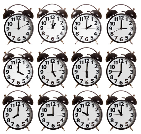 timekeeper: Its a Time Collection of Alarm Clock isolated Stock Photo