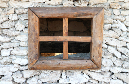 without window: Window cut into the stone  without glass