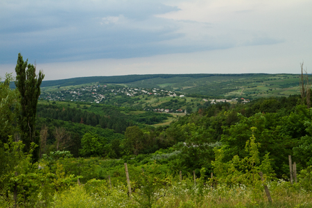 Beautiful summer nature, landscape of Moldova