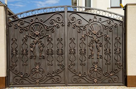Modern forged decorative gates.