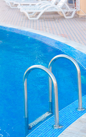Staircase to enter the swimming pool