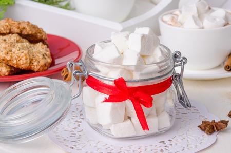 homemade marshmallows Imagens - 69577644