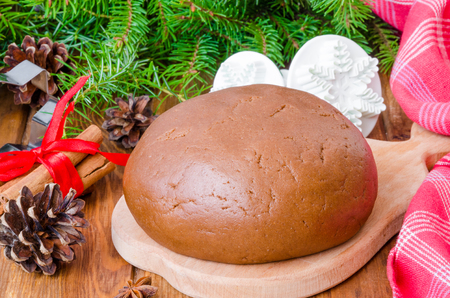 Gingerbread dough for Christmas cookies and Happy New Year