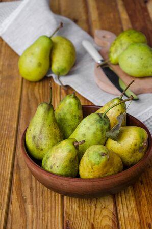 fresh ripe pears