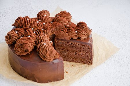 Excellent Chocolate Birthday Cake Homemade Delicious Chocolate Cake On Funny Birthday Cards Online Alyptdamsfinfo