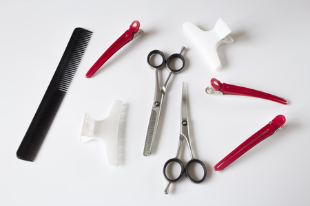 scissors comb: hairdressers tools scissors comb clips